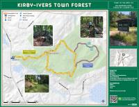 Map of Kirby-Ivers Town Forest