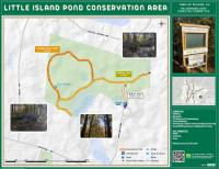 Map of Little Island Pond Conservation Area