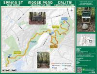 Map of Spring Street Town Forest, Moose Pond Conservation Area and Calitri Conservation Area