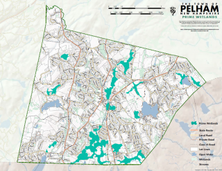 Map of the Prime Wetlands in Pelham NH