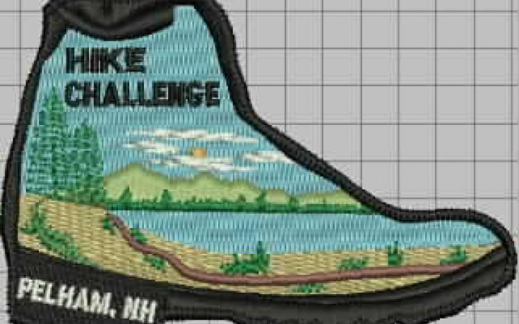 Hike Challenge Patch in the shape of a boot