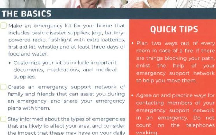 Go PREP series of Emergency Preperation Information for Older Adults