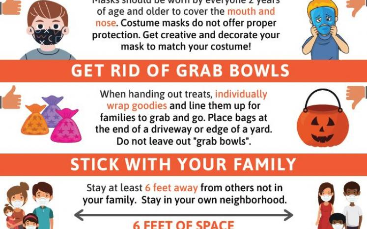 Tips on trick or treating safely