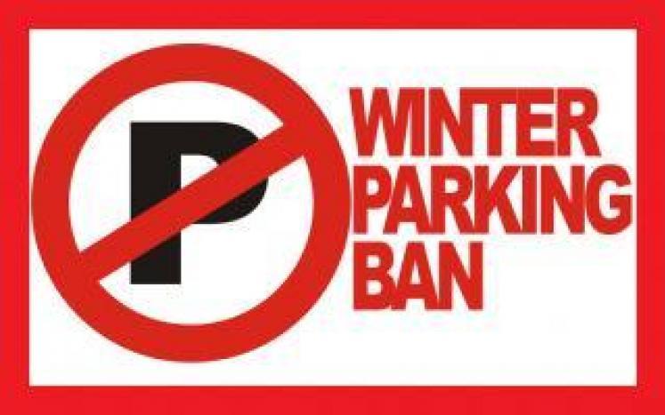 Winter parking ban illustration